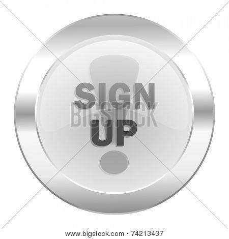 sign up chrome web icon isolated
