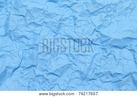 Texture Of Wrinkled Blue Paper