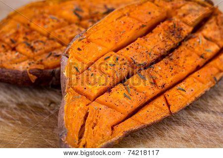 baked yam sweet potato