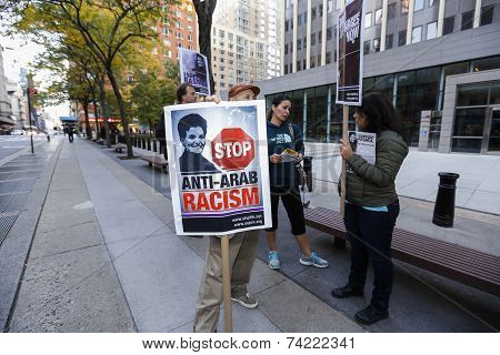 Stop Anti-Arab Racism sign