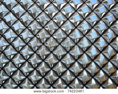Abstract pattern of  small metal rhombus  pieces illustration