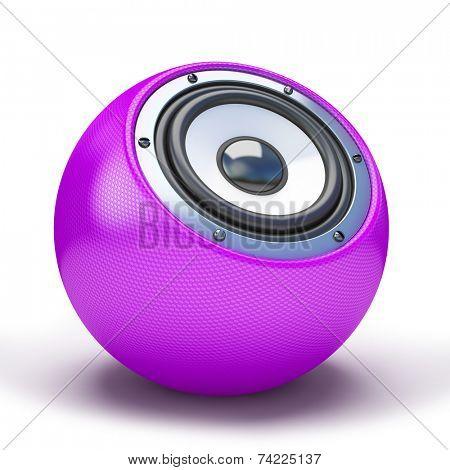 Purple sphere speaker 3D