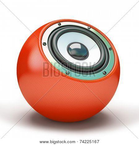 Red sphere speaker 3D