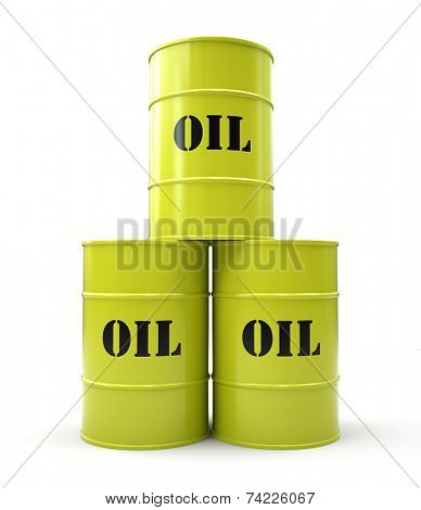 Pyramid of yellow oil barrel