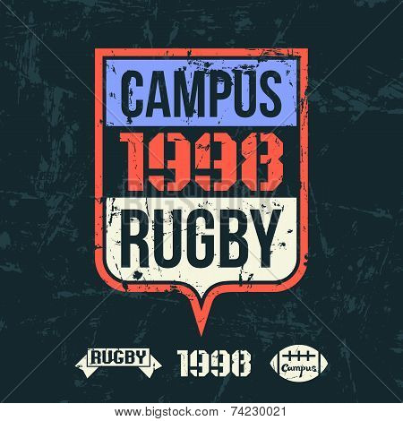 Emblem Of The College Rugby Team