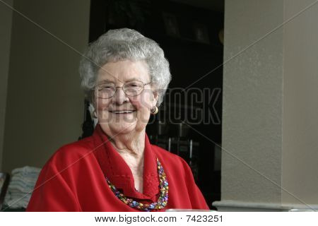 Senior Woman in a Cafeteria