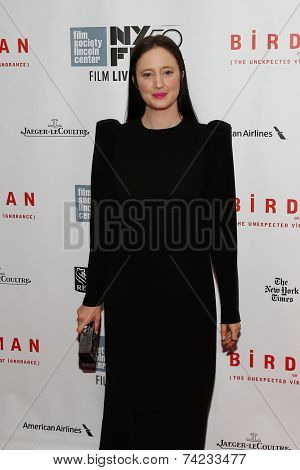NEW YORK-OCT 11: Andrea Riseborough attends the Closing Night Gala Presentation of 'Birdman Or The Unexpected Virtue Of Ignorance' at the New York Film Festival on October 11, 2014 in New York City.