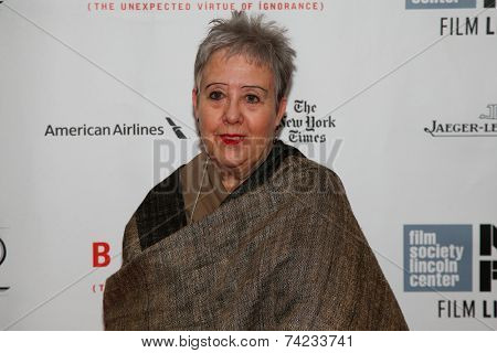 NEW YORK-OCT 11: Poet Tess Gallagher attends the Closing Night Gala Presentation of 'Birdman Or The Unexpected Virtue Of Ignorance' at the New York Film Festival on October 11, 2014 in New York City.
