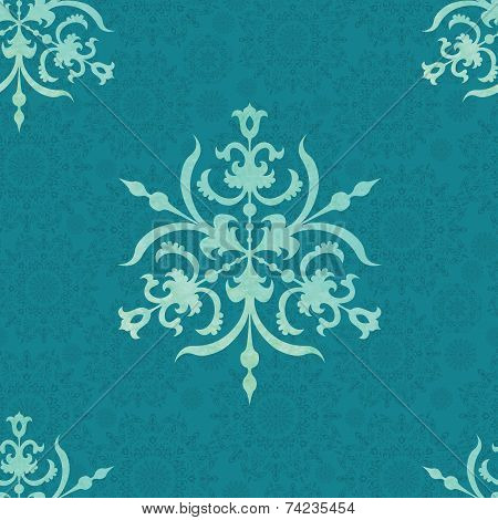 Vector pattern with snow