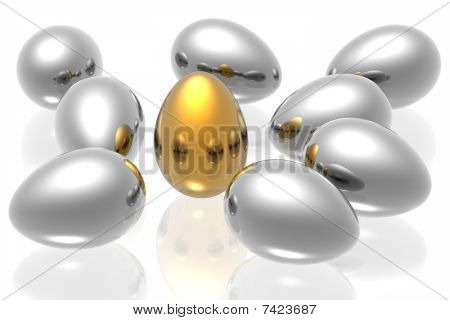 Unique Golden Egg