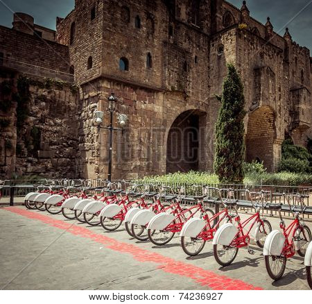 bicycle rentals in Barcelona Gothic Quarter