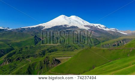 Snowy mount Elbrus