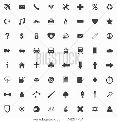 Set Of Clean Flat Icons