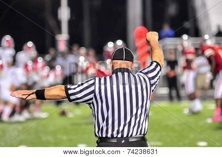 Closeup Of The Back Of A Football Referee