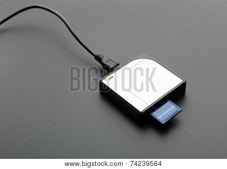 Reader for standard SD memory cards