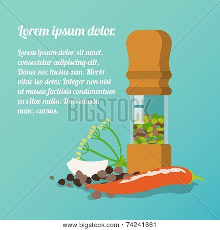 Pepper mill poster