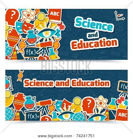 Education science banners