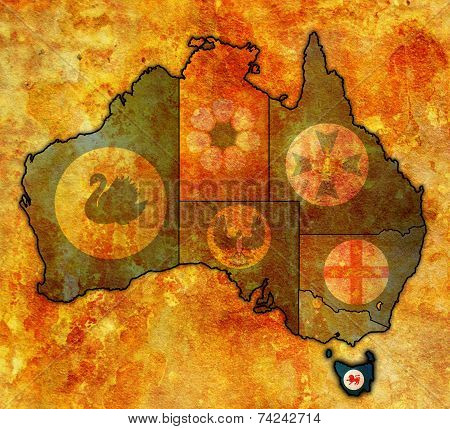 Tasmania On Map Of Australia