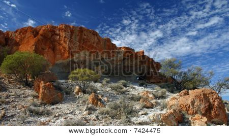 Ancient Land Red Cliff Outcrop