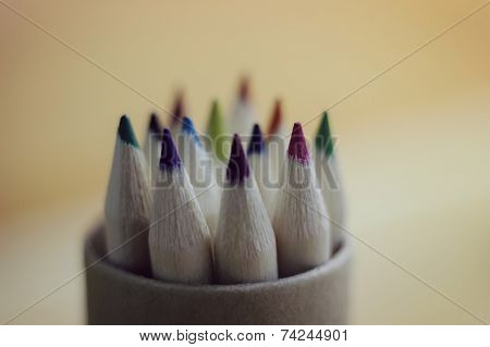 color pencils in box