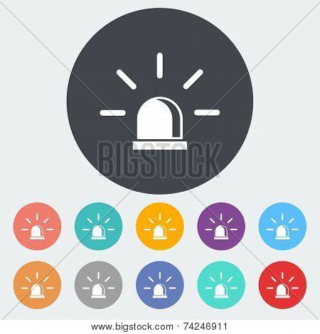 Police single icon.