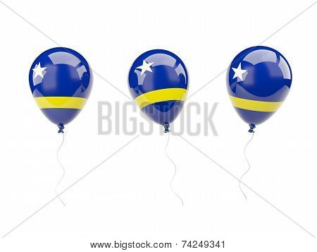 Air Balloons With Flag Of Curacao