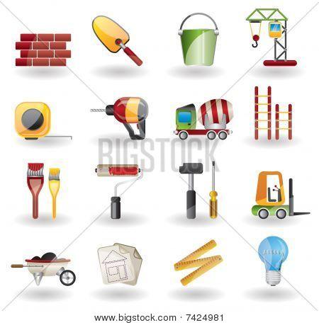 Construction and Building vector Icon Set