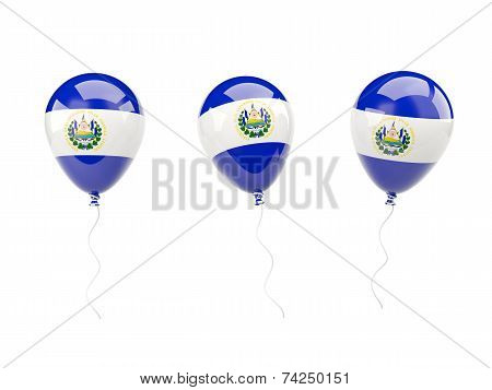 Air Balloons With Flag Of El Salvador
