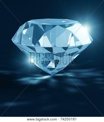 Diamond gemstone with shining effect