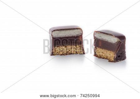 Chocolate Covered Marzipan-jelly-lebkuchen Praline