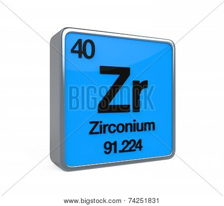 Zirconium Element Periodic Table