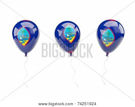 Air Balloons With Flag Of Guam