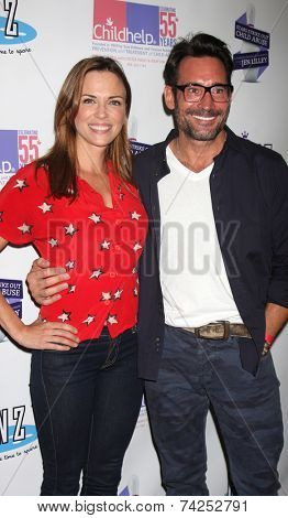 LOS ANGELES - OCT 19:  Kelly Sullivan, Gregory Zarian at the First Annual Stars Strike Out Child Abuse event to benefit Childhelp at Pinz Bowling Center on October 19, 2014 in Studio City, CA