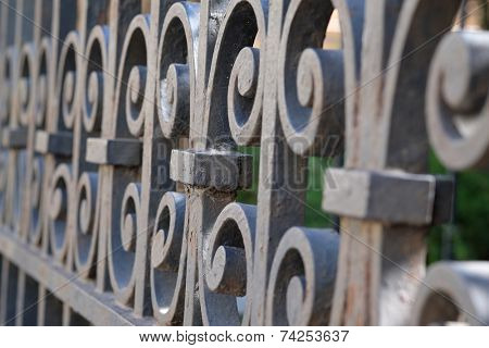 background with the image of a Fence