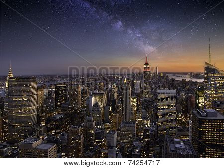 Milky Way Over Manhattan
