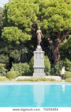 Flora Statue In Nikitsky Botanical Garden, Yalta