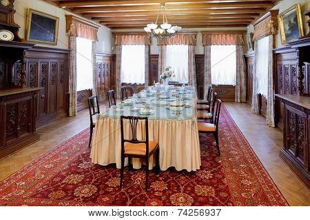 Interior Dining Room In Masandra Palace, Crimea