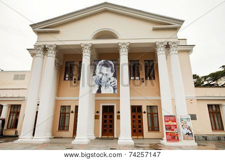 Facade Of Theater In Yalta City