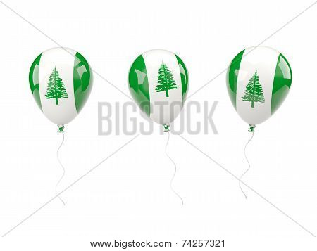 Air Balloons With Flag Of Norfolk Island