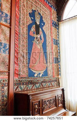 Interior With Old Carpet In Hall Vorontsov Palace