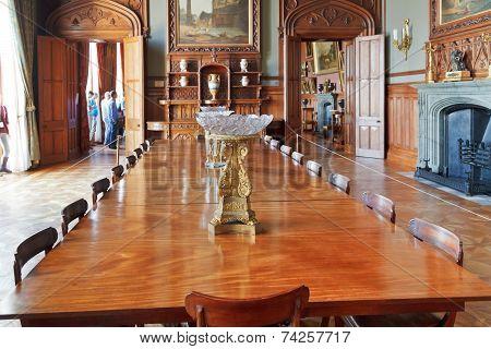 Interior Of Formal Dining Room In Vorontsov Palace
