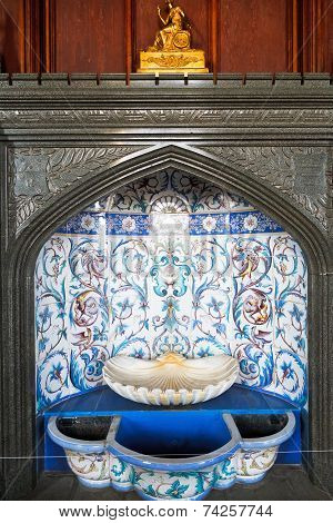 Fountain In Formal Dining Room In Vorontsov Palace