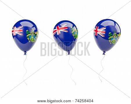 Air Balloons With Flag Of Pitcairn Islands