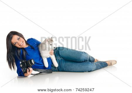 Woman and her pet