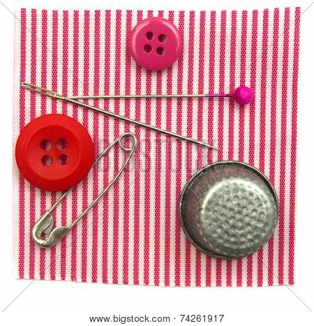 Buttons Thimble Needles