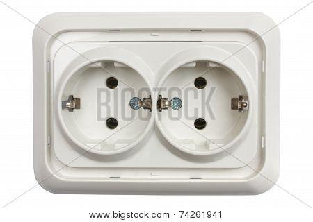 White Plastic Socket
