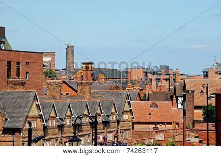 City rooftops, Chester.
