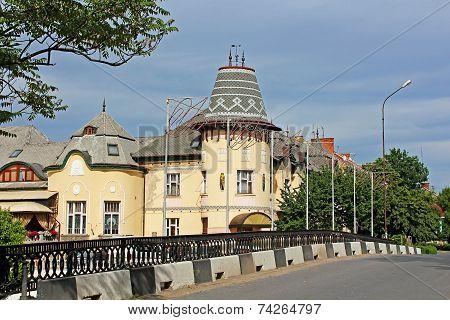 Biulding Of Former Casino In Berehove, Zakarpattia, Ukraine