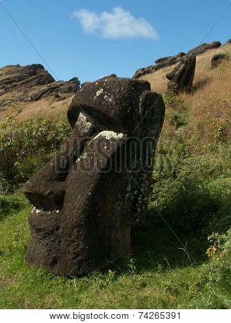 Buried Moai