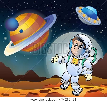 Image with space theme 7 - eps10 vector illustration.